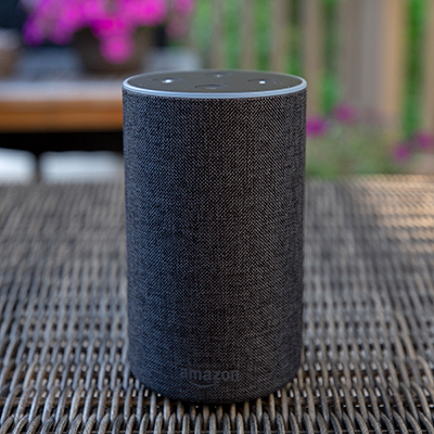 "AMAZON<sup>&reg;</sup> ECHO™ - Play music, make calls, listen to the news, control smart home devices and more with this Echo when connecting to Alexa, the cloud-based voice service.  This charcoal colored Echo features 360-degree omni-directional audio for crisp, immersive sound, 7 integrated microphones, beamforming technology, noise cancellation which allows Alexa to hear you even while music is playing, 2.5"" woofer and 0.8"" tweeter speaker and dual-band Wi-Fi connectivity. Compatible with Belkin WeMo, Philips Hue, SmartThings, Insteon, Wink, Amazon Music, Prime Music, Pandora, iHeartRadio, TuneIn and more. Power adapter included."