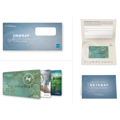 HILTON HHONORS™ $100 Gift Card - From getaways to golf, use this $100 Hilton HHonors™ gift card for your next Hilton<sup>®</sup> brand adventure.